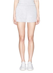Alexander Wang French Terry Overlay Scuba Jersey Shorts Grey White