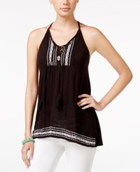 American Rag Embroidered Sleeveless Top Only At Macy's Black Combo
