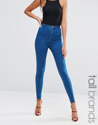 Missguided Tall Highwaisted Super Stretch Jean Blue