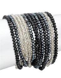 Abs By Allen Schwartz Multi Row Beaded Bracelet