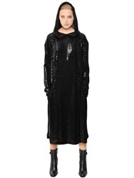 Veronique Branquinho Hooded Sequin Dress