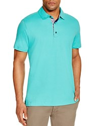 Robert Graham Stripe Placket Slim Fit Polo Shirt 100 Bloomingdale's Exclusive Green