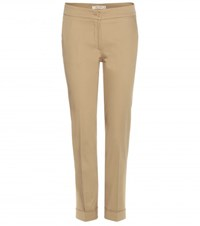 Etro Cigarette Cropped Cotton Chino Beige
