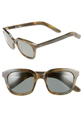 Steven Alan 'Dudley' 47Mm Polarized Retro Sunglasses Green Heather