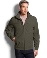 London Fog Litchfield Microfiber Hipster Jacket Olive