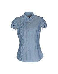 Veronique Branquinho Shirts Shirts Women Pastel Blue
