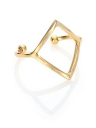 Taylor And Tessier Wire Cuff Bracelet Gold