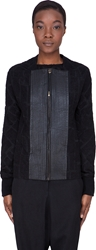 Damir Doma Black Leather Trim Jatlat Jacket
