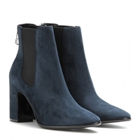 Balenciaga Charlotte Suede Ankle Boots Nuit