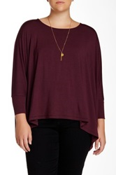 Heather By Bordeaux Oversized Tee Plus Size Purple