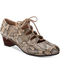 Bella Vita Posie Ii Lace Up Pumps Women's Shoes Natural Snake