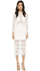 Alexis Maud Lace Dress Off White Lace
