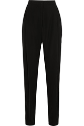 Christopher Kane Tech Satin Wide Leg Pants Black