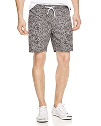 Barney Cools Classic Feather Dot Print Shorts Black Orange