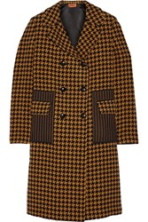 Missoni Houndstooth Wool Blend Coat Yellow