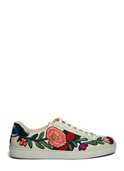 Gucci Embroidered Floral Patch Sneakers Grey