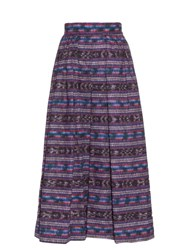 Stella Jean Magistrato Striped Cotton Culottes Purple