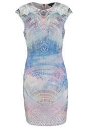 Ted Baker Dremaa Dreamscape Summer Dress Lilac Light Blue
