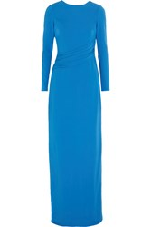 Raoul Bridget Open Back Crepe Gown Blue