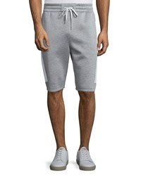 Helmut Lang Logo Side Drawstring Track Shorts Heather Gray Men's Heather Grey