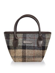 Barbour Winter Tartan Small Tote Bag Multi Coloured Multi Coloured