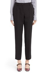Women's Dolce And Gabbana Double Stretch Wool Crepe Slim Ankle Pants