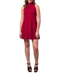 Miss Selfridge Highneck Swing Dress Red