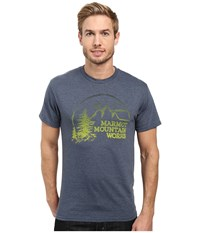 Marmot Halation Short Sleeve Tee Navy Heather Men's Clothing Gray