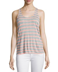 Splendid Huntington Racerback Striped Tank Heather Gray Sunkissed Women's H.Grey Sunkissed