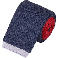 Penrose London Men's Knit Reversible Tie Navy