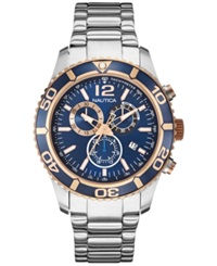 Nautica Men's Chronograph Stainless Steel Bracelet Watch 43Mm Nad18500g