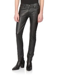 Saint Laurent Faux Leather Jeans Black