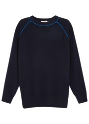 Demy Lee Kristan Two Tone Cashmere Jumper Navy