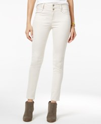 Tinseltown Juniors' 2 Button High Waist Colored Skinny Jeans Barbados Sand