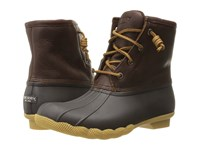 Sperry Saltwater Tan Dark Brown 1 Women's Lace Up Boots