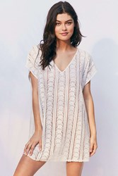 Out From Under Lace Caftan Cover Up Ivory
