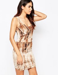 Hedonia Abi Dress With Ruching Brown
