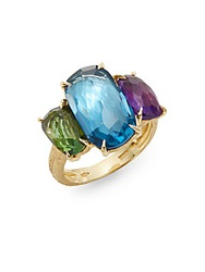 Marco Bicego Murano Multi Gemstone And 18K Yellow Gold Ring Gold Multi