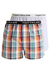Tom Tailor 2 Pack Boxer Shorts Red Blue Multicoloured