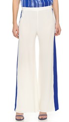 Zeus Dione Alcyone Wide Leg Trousers Ivory