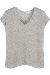 Rag And Bone Rag And Bone Malibu Slub Linen T Shirt Light Gray
