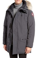 Canada Goose Men's Langford Slim Fit Down Parka With Genuine Coyote Fur Trim Graphite