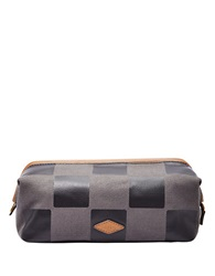 Fossil Checkered Dopp Kit Grey