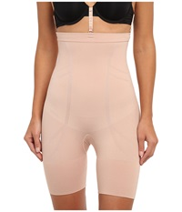 Spanx Slim Cognito High Waisted Mid Thigh New Slimproved Rose Gold Hose