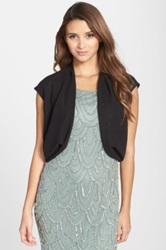 Alex Evenings Georgette Shrug Black