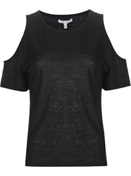 Derek Lam 10 Crosby Cut Out T Shirt Black