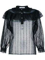 Philosophy Lace Blouse Black Pearl