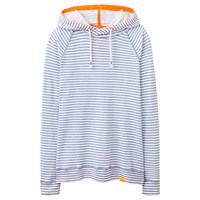 Joules Marlston Lightweight Hoodie Haze Blue Stripe