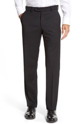 Men's Big And Tall Ballin Flat Front Solid Wool Trousers Black