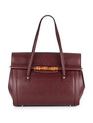 Gucci New Bullet Leather Top Handle Bag Burgundy